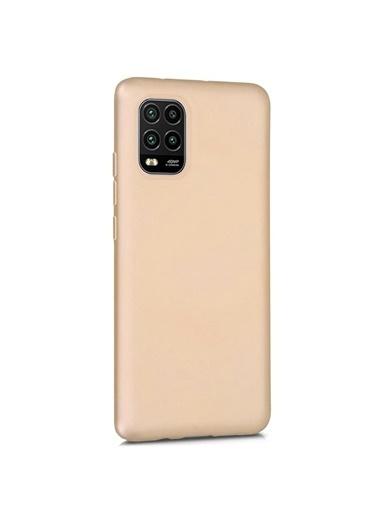 Microsonic Matte Silicone Xiaomi Mi 10 Lite Zoom Kılıf Altın